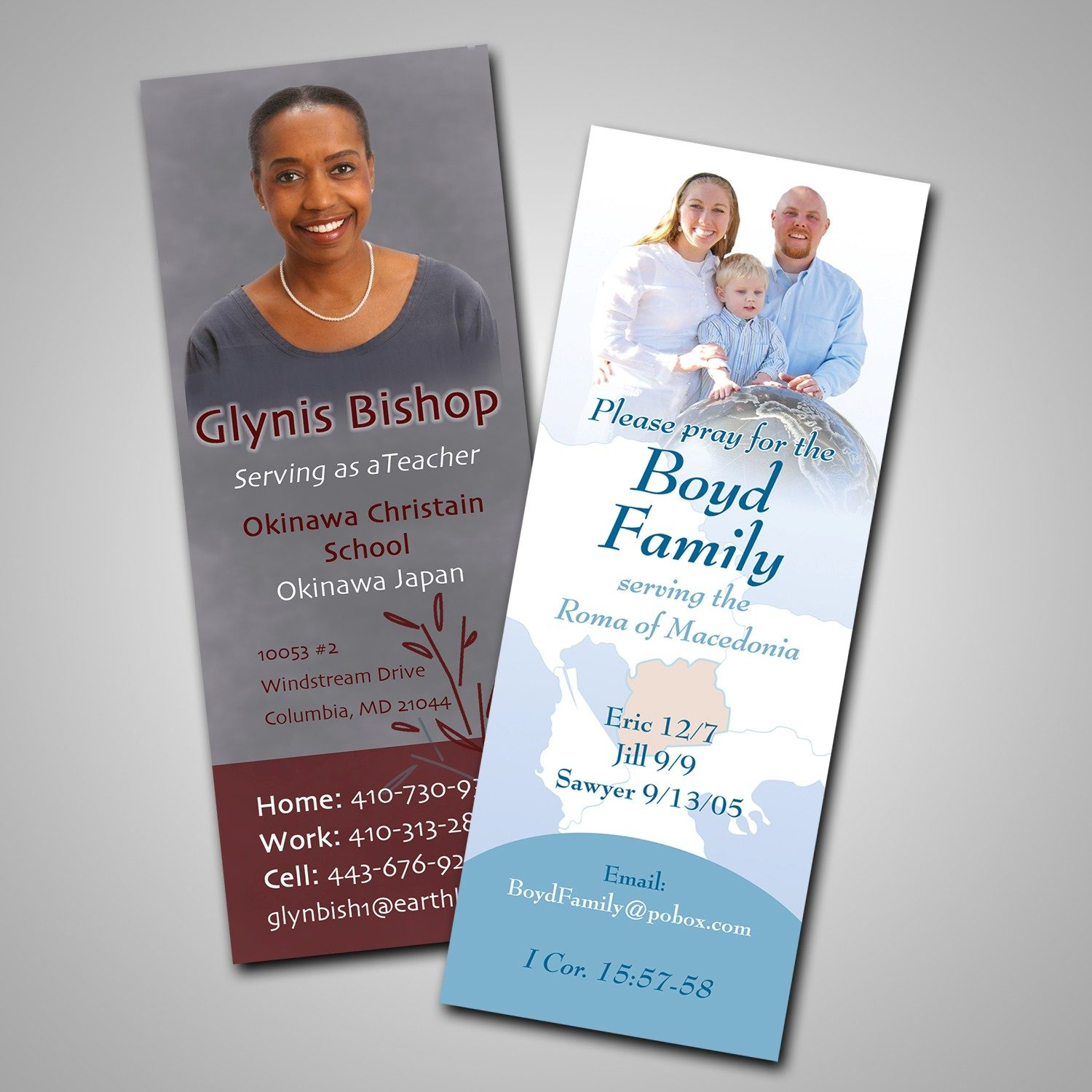 Bookmarks for Ministry Donations and Missionary Fundraising and Awareness - MissionaryCards.com
