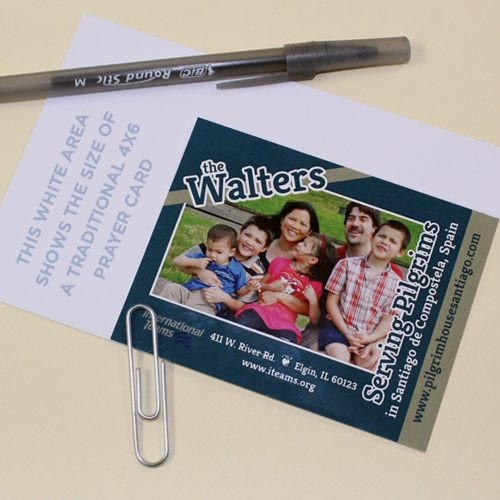 Mini prayer cards for missionary support and fundraising - MissionaryCards.com
