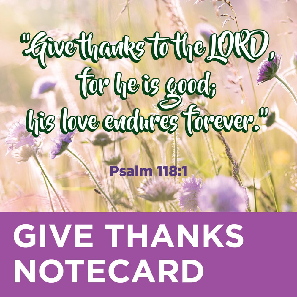 Thank You Note Cards for Missionaries with a Give Thanks Greeting - MissionaryCards.com
