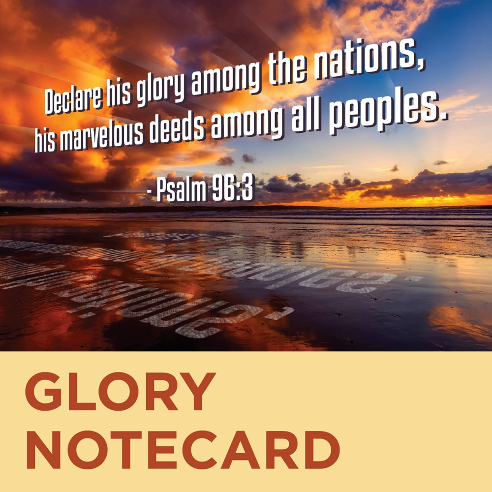 Missionary Thank You Cards, Glory Design - MissionaryCards.com