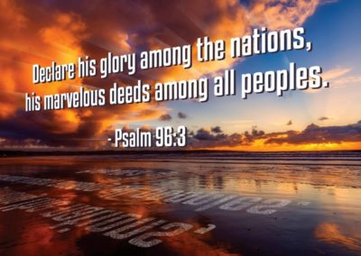 """Missionary Thank You Cards """"Declare his glory among the nations, his marvelous deeds among all peoples - Psalm 96:3"""" - MissionaryCards.com"""